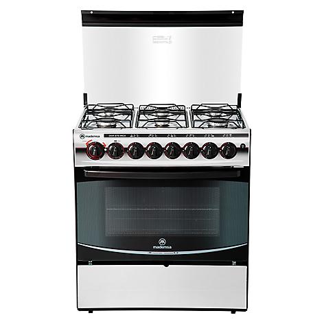 Mademsa cocina 6 quemadores diva 870 silver for Cocina 6 quemadores