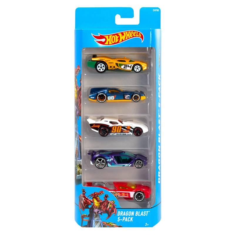 Hot Wheels - Pack se 5 Autos
