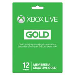Microsoft - Xbox Live Gold 12 Meses