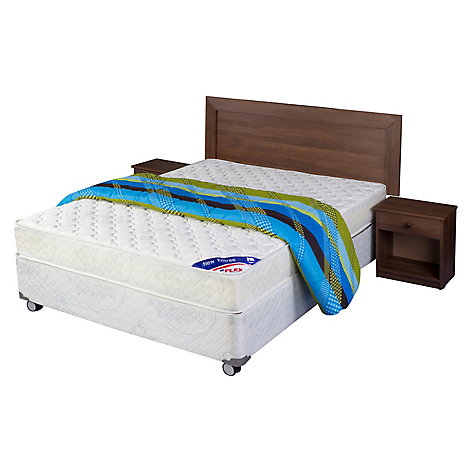 Flex cama americana new entree 2 plazas base normal for Sofa cama 2 plazas falabella