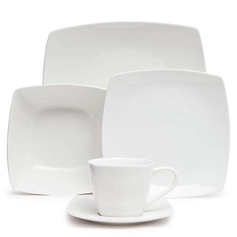 Juego de vajilla 30 piezas porcelana cuadrado - Vajilla de porcelana ...