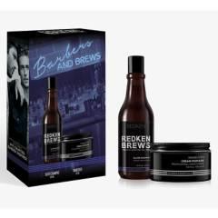 REDKEN - Set Brews Hombre Shampoo Silver 300 ml + Cera Maneuver 100 ml