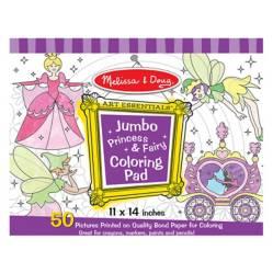 Melissa  Doug - Jumbo Coloring Pad Princess