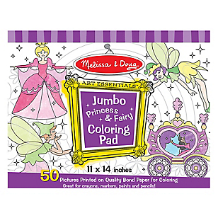 Jumbo Coloring Pad Princess
