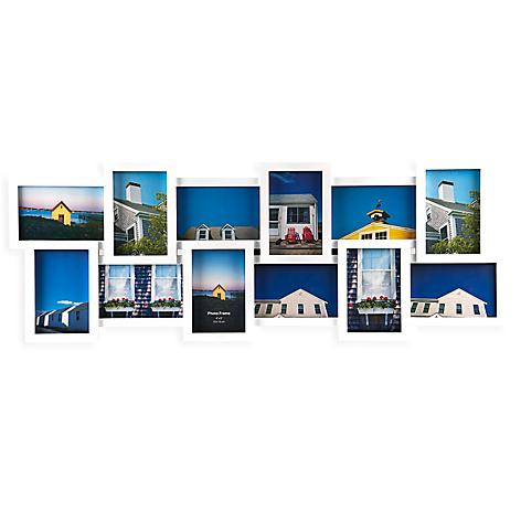 Marco de Foto Collage 12 Fotos Horizontal Blanco - Falabella.com
