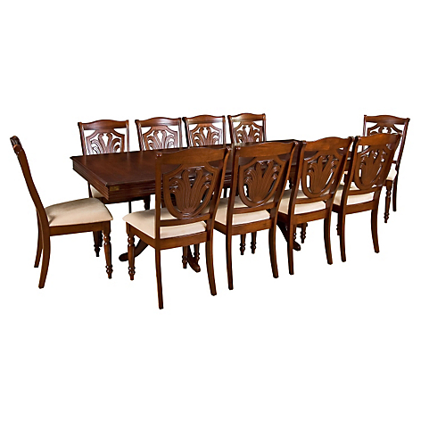 Cic juego de comedor extendible 10 sillas ascot for Comedor 10 sillas