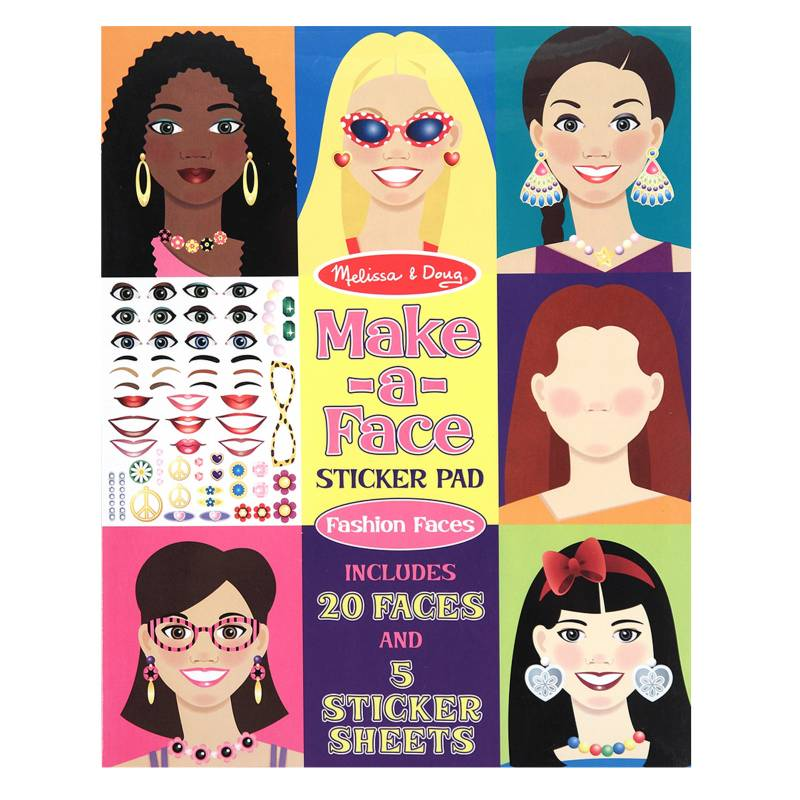 MELISSA & DOUG - Make A Face Sticker Pads