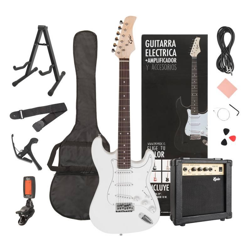 Epic - Combo Guitarra Gs-White  + Amp 10W