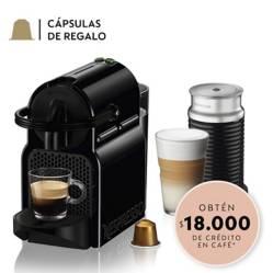 Cafetera Inissia Negra+ Aeroccino