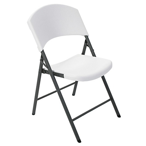 Lifetime silla plegable blanca for Silla plegable blanca