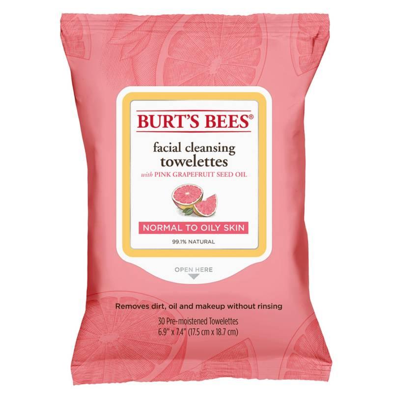Burts Bees - Toallitas Desmaquillantes Burt's Bees Pomelo Rosado 30 un