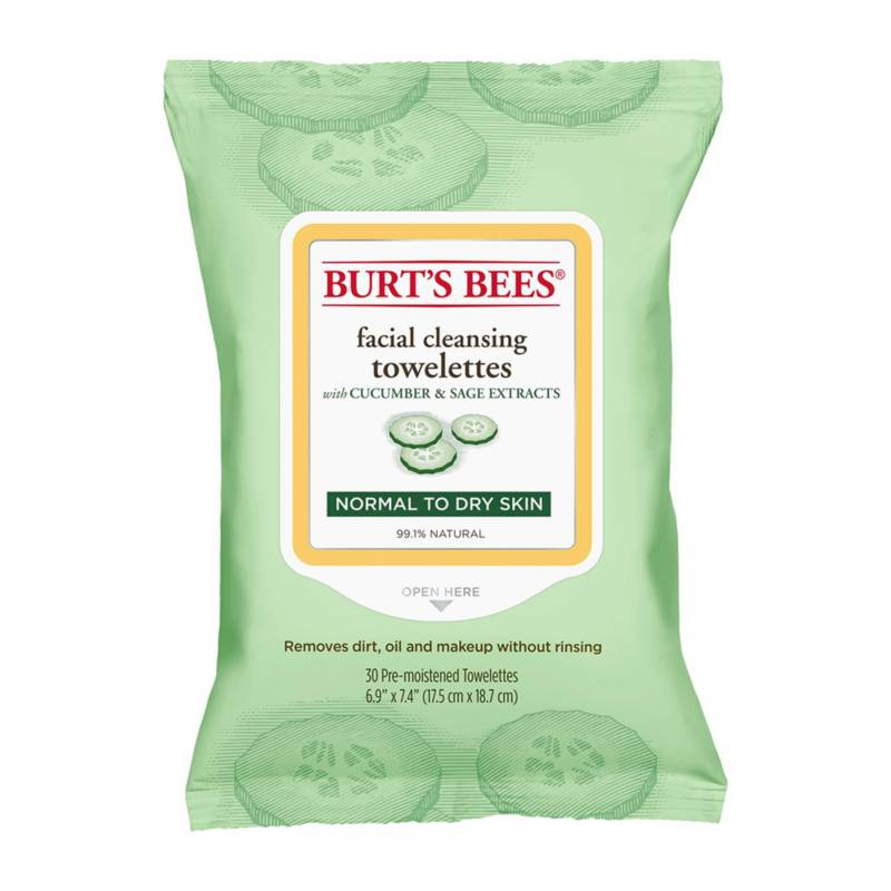 Burts Bees - Toallitas Desmaquillantes Burt's Bees Pepino y Salvia 30 un