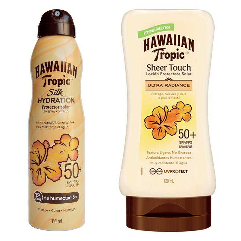 HAWAIIAN TROPIC - Sheer Touch 30 240 Ml + Sheer Touch 50 Spray