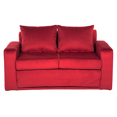 Mica sof cama castelo tela burdeo for Sofa cama 2 plazas falabella