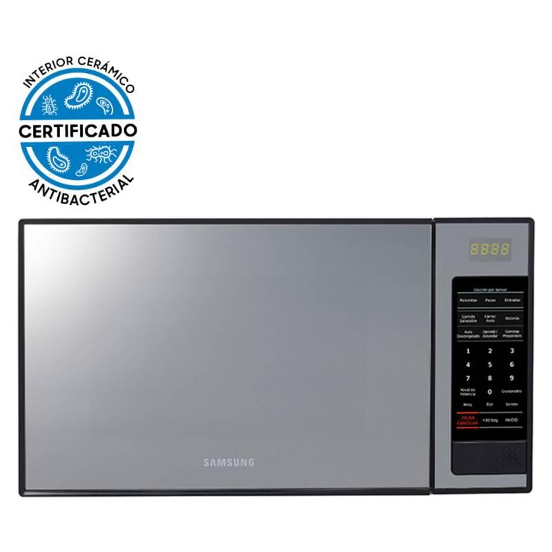 Samsung - Microondas Espejado con Esmalte Cerámico, 32 L, ME0113MB1/XZS
