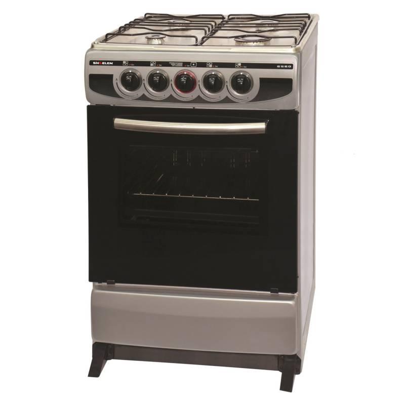 SINDELEN - Cocina 4 Quemadores CH6560 Silver