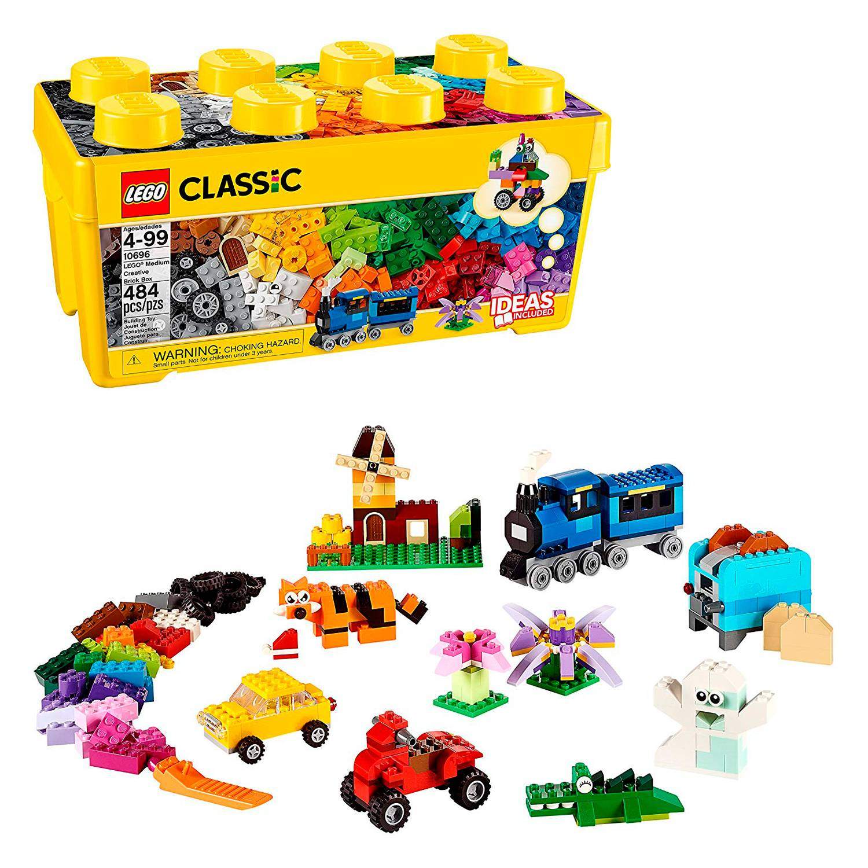 10 Tarjeta de bloque de construcción Lego Fiesta comida o tratar Caja