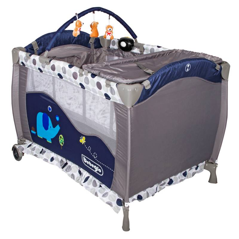 Bebeglo - Cuna Corral Pack Play Azul RS-6190