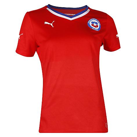 Puma Chile De Camiseta Shirt Home Mujer Ow8Xkn0P
