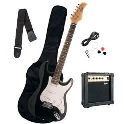 Epic - Pack Guitarra Eléctrica Negra + Amplificador 10 Watts