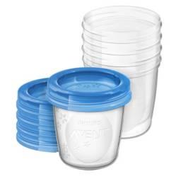 Avent - Set Vasos Para Almacenar 180 ml 5 Unid