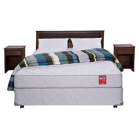 Rosen cama americana beat 2 plazas base normal muebles for Textil muebles