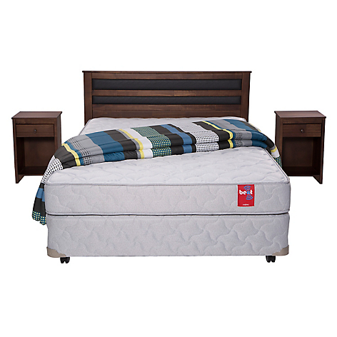 Rosen cama americana beat 2 plazas base dividida muebles for Cama 2 plazas rosen