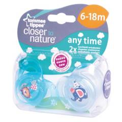 Tommee Tippee - Chupete Ctn 6 A 18M Anytime Az-Ce