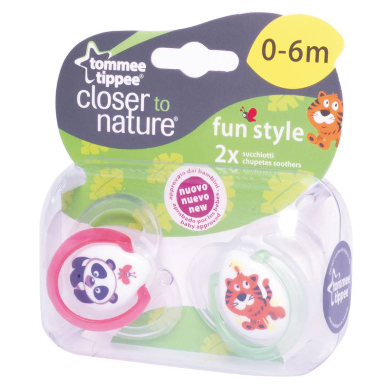 Tommee Tippee - Chupete CTN 0 a 6 Meses Rojo/Verde