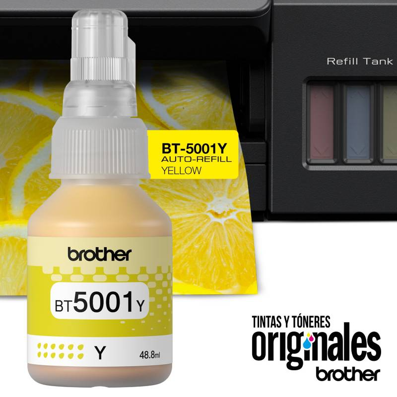 Brother - Tinta Brother BT5001 Y Amarillo