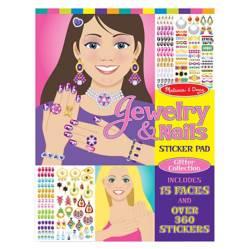 Block de Stickers Colección Glitter de Joyas y Uñas