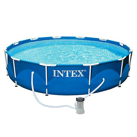 Intex piscina estructural familiar for Alberca familiar intex
