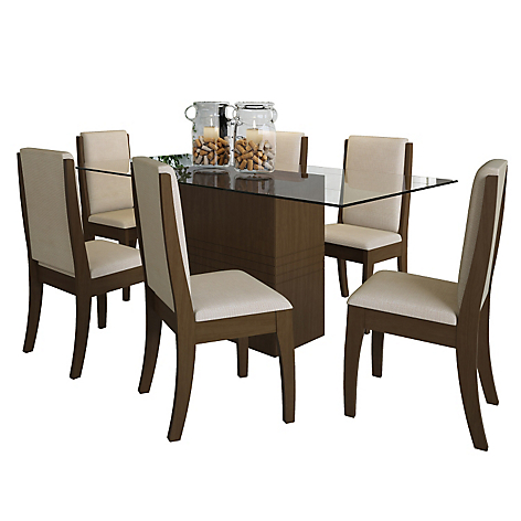 Basement home basement home juego comedor 6 sillas vitale for Juego comedor pequea o