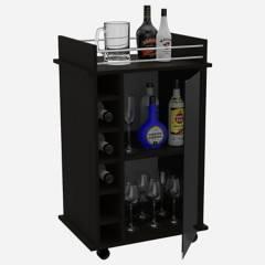 TUHOME - Mueble Bar con Ruedas Dukat