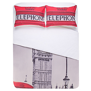 Funda Plumón Estampada London Big Ben 2 Plazas