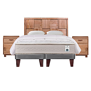 Cama Europea Balance 3 King Base Dividida + Muebles + Textil
