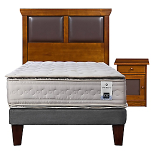 Cama Europea Balance 3 1,5 Plazas Base Normal + Muebles