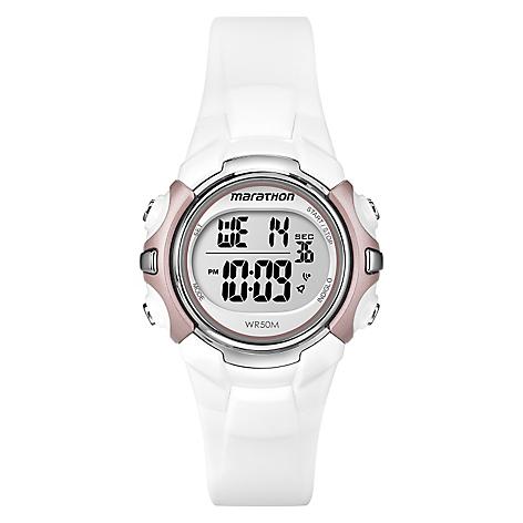Digital Timex Mid Marathon Blanco Reloj 2YEH9WDeI