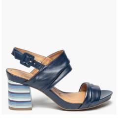 GACEL - Sandalia Mujer Cuero Azul