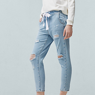 Jeans Relaxed Crop Jogging