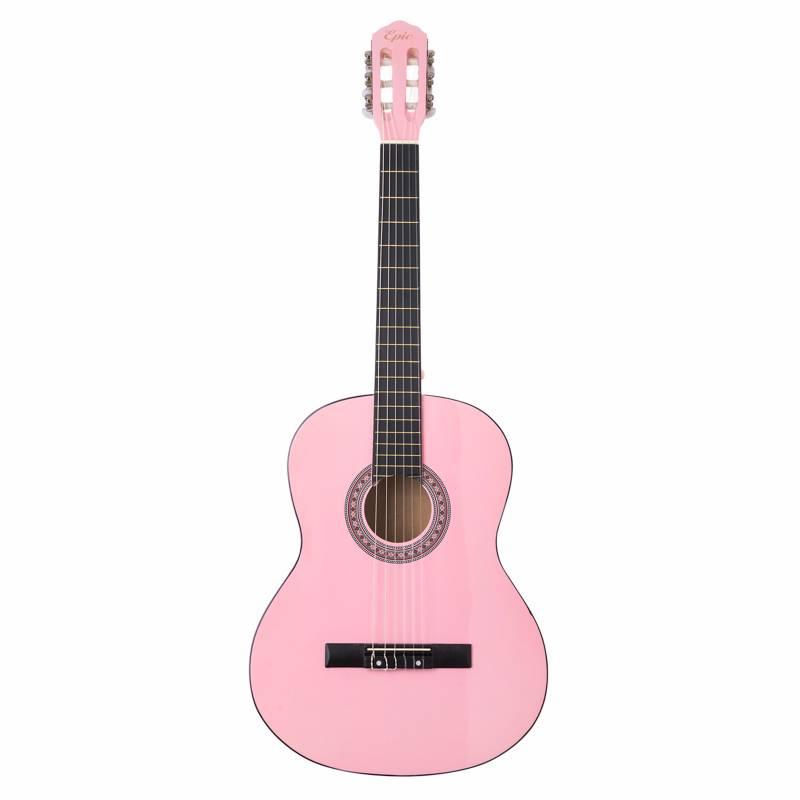 Epic - Guitarra Clásica Acústica de 39 pulgadas Rosada