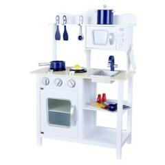 Kidscool - Cocina de Madera Blanca