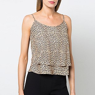 Blusa Estampada Pliegues