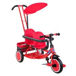 Kidscool - Triciclo Doble Rojo