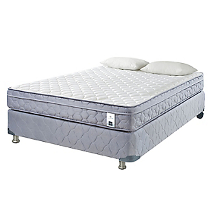 Cama Americana 2 Plazas Essence 5 Base Normal + 2 Almohadas
