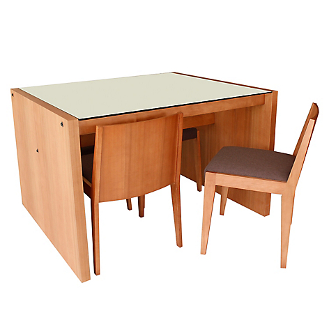 Basement home juego de comedor rectangular 4 sillas bolts for Comedor 4 sillas falabella