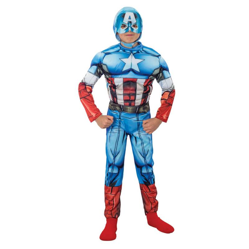 - Disfraz Assemble Capitán América Deluxe