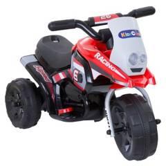 KIDSCOOL - Moto A Batería 3 Ruedas Roja