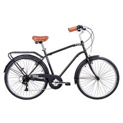Bicicleta aro 26 city commuter negra