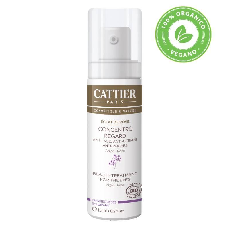 Cattier - Tratamiento Antiedad Contorno de Ojos Argán-Rosa